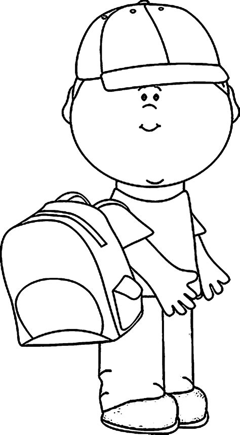 coloring page school bag school bag coloring pages wecoloringpage