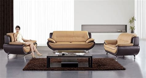 Iv Brown Set ae208 iv blk leather sofa set ivory black leather sofas