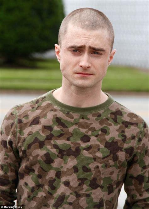 film semi nazi daniel radcliffe reveals shaved head for neo nazi