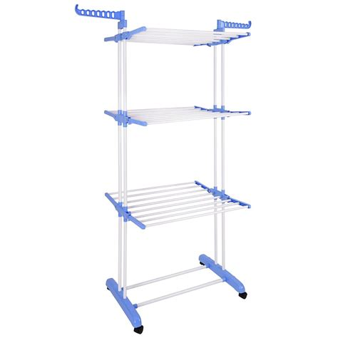 collapsible laundry rack 66 quot 3 tier folding foldable collapsible clothes drying