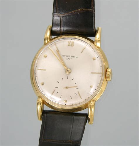 a gentleman s claw lugs 18k gold patek philippe wristwatch