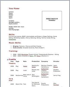 3 Column Acting Resume Template by Resume Template For Bartender No Experience Http Www