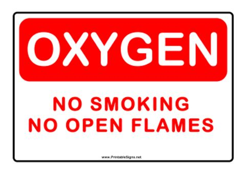 no smoking oxygen signs printable printable no smoking oxygen alert sign