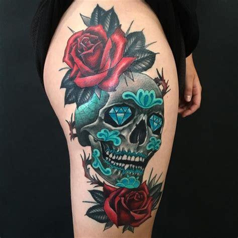 colored skull tattoo designs 30 amazing and inspiring sugar skull tattoos designwrld
