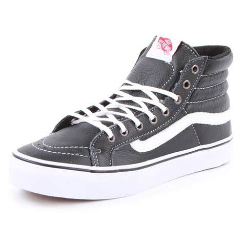 vans sk8 hi slim womens leather trainers new shoes size 3