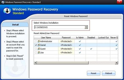 windows password reset gui how to recover windows password for uefi based acer computer