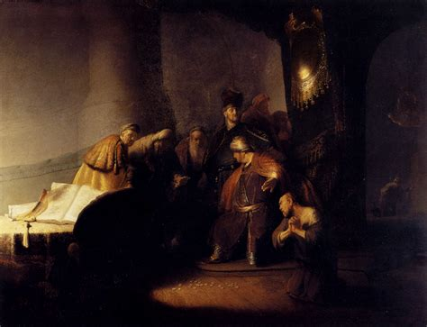 rembrandts universe his art repentant judas returning the pieces of silver 1629 rembrandt wikiart org