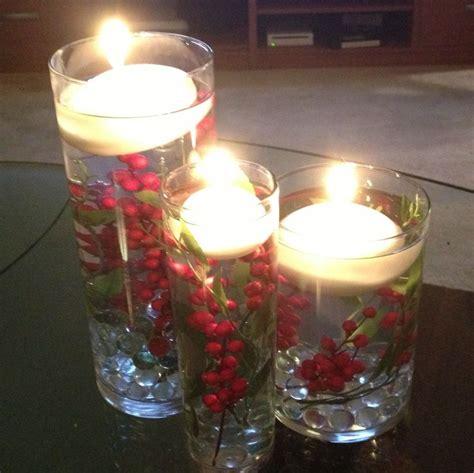 floating candle diy holiday centerpiece christmas