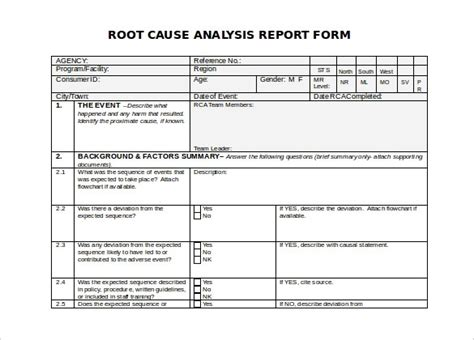 Root Cause Analysis Template Beepmunk Cause Mapping Template Excel
