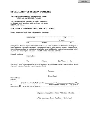 Martin County Clerk Of Court Official Records Domicile Forms And Templates Fillable Printable Sles For Pdf Word Pdffiller