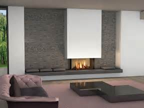 The fireplace on the same wall where is fixed the flat tv screen