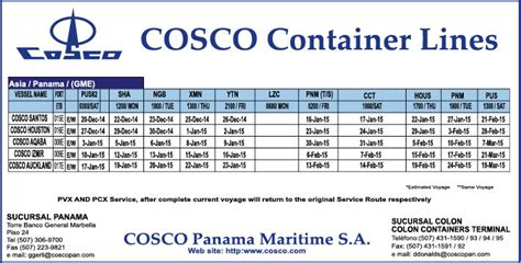 msc shipping schedule to carrier schedule the bulletin panama