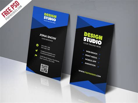 Corporate Id Card Template Psd Free by Design Studio Business Card Template Free Psd