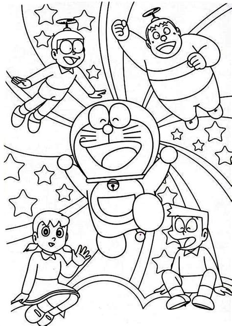 Doraemon Coloring Pages Printable Free For Sizuka From