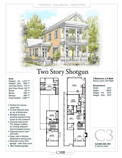 shotgun house layout 2 story shotgun house by c3 studio llc french colonial