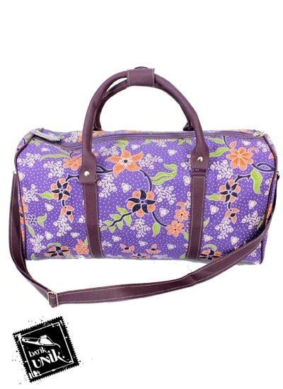 Tas Batik Vinyl Kempol G2602 tas baju batik cantik bunda motif kembang kembangan tas wanita murah batikunik