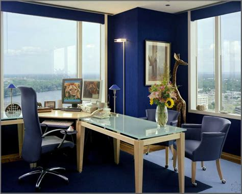 blue color kitchen interior design ideas home office desain interior ruang kerja kantor minimalis nyaman