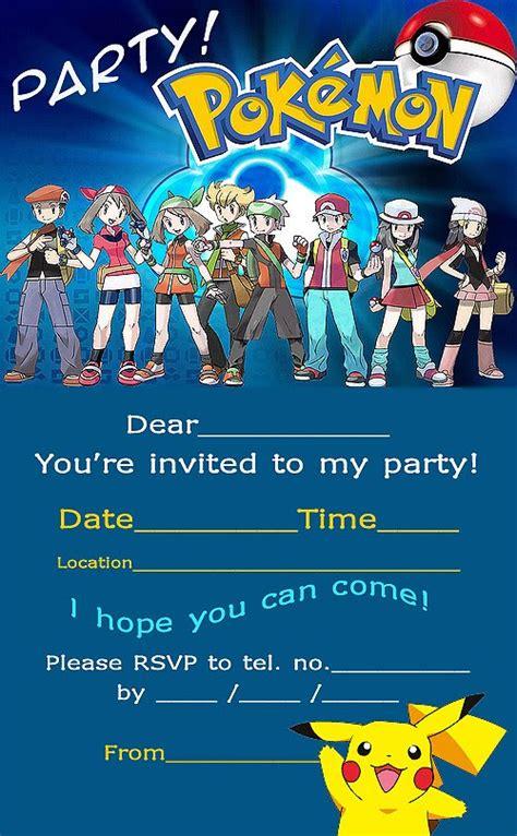 printable birthday invitations pokemon pokemon coloring pages