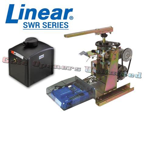 linear swing gate operator linear swr 211 1 2 hp 115v 1p 17 ft gate length 500 lbs