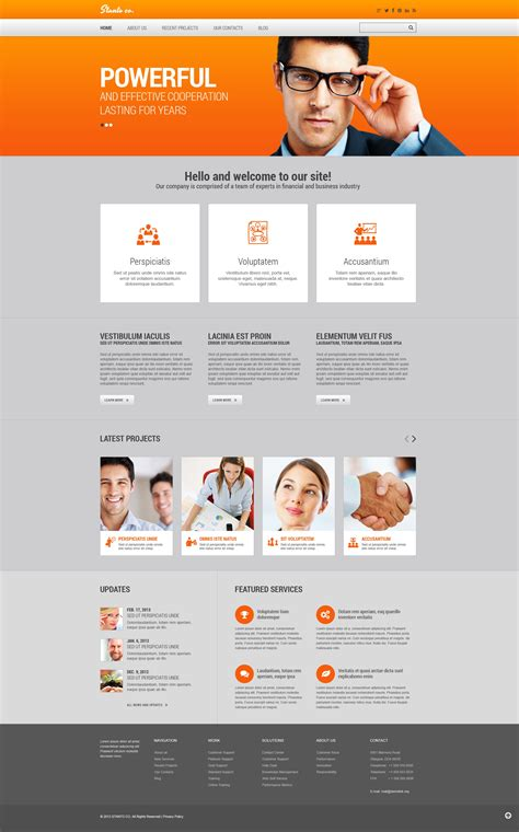 templates for finance website financial advisor responsive website template 45963