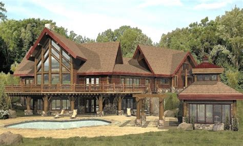 large cottage house plans large log cabin home floor plans custom log homes log