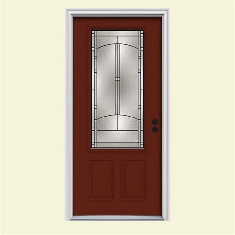 34 Interior Door Jeld Wen 34 In X 80 In 3 4 Lite Idlewild Mesa W White Interior Steel Prehung Left