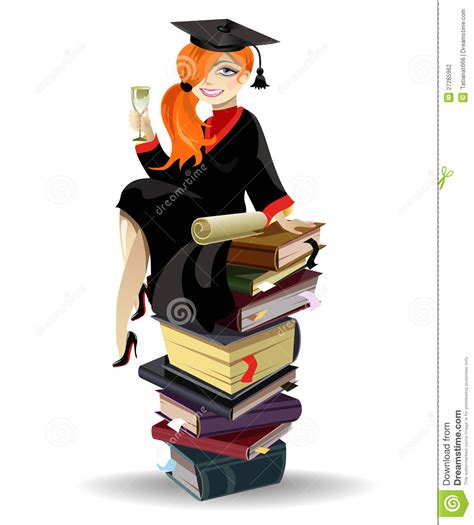 Gift For Architecture Student graduated girl stock photography image 27285962