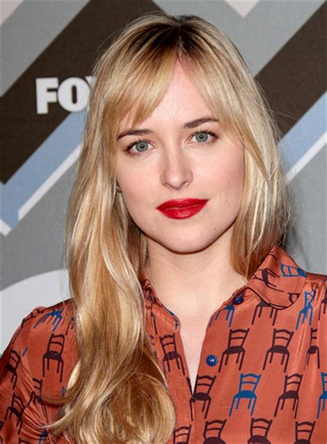 dakota johnson bangs fifty shades of grey dakota johnson hairstyles 2015