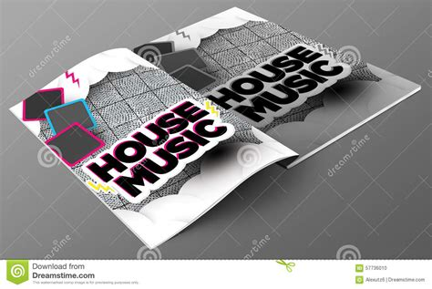 you are my friend house music house music magazine mockup stock illustration image 57736010