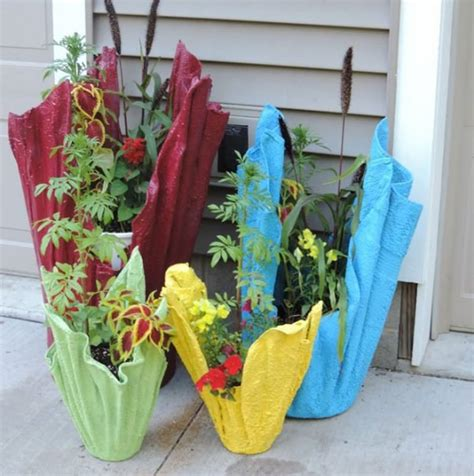 How To Make Planter Pots by Recycled Towel Plant Pots Diy Plant Pot
