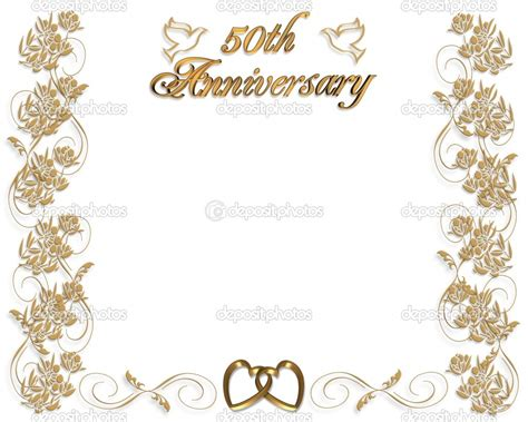 50th Wedding Anniversary Invitations Templates Free 50th Anniversary Templates Free
