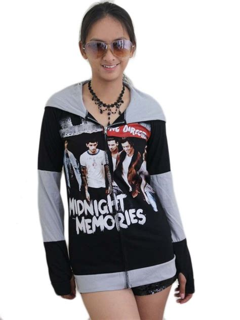 Zipper Hoodie One Direction one direction pop diy funky zip hoodie jacket top