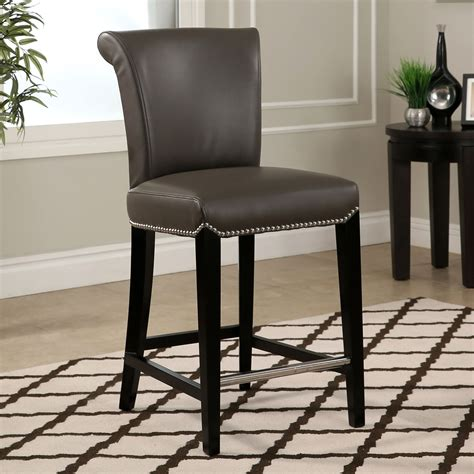 Belham Living Hutton Nailhead Counter Stool by Awesome Leather Nailhead Bar Stools Weblabhn
