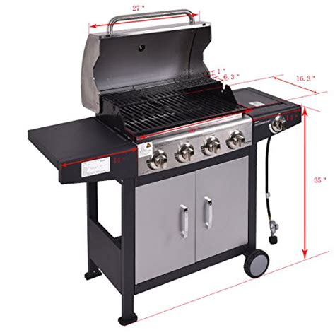 backyard grill 4 burner gas grill review tangkula 4 burner gas porpane grill stainless steel