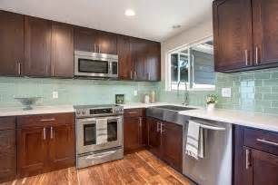 green glass backsplashes for kitchens light green glass subway tile kitchen backsplash subway
