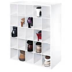 25 pair shoe shelf white cubby cube rack home storage