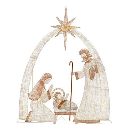 home accents outdoor christmas decorations home accents holiday 120 in 440 light led giant nativity