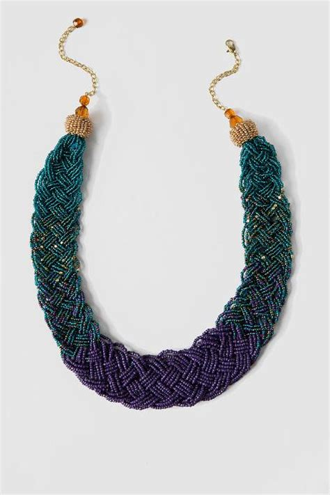 braided bead necklace timor braided seed bead necklace s