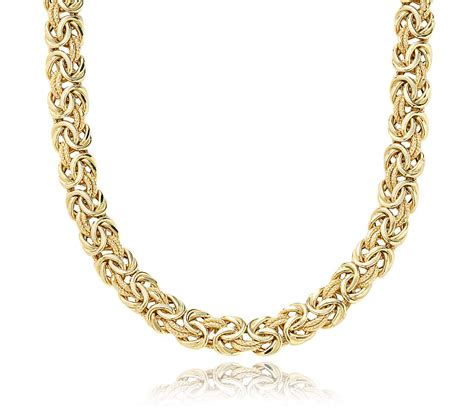 Gold Necklace byzantine necklace in 18k yellow gold blue nile