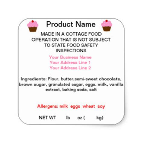 cottage food labels trinilicious zazzle store