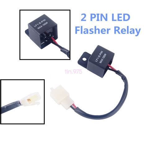 signal light flasher relay 2 pin electronic led flasher relay fix motorcycle turn