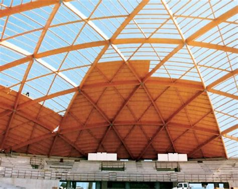 progetto cupola geodetica copertura geodetica in legno lamellare