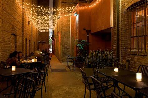 String Lights Over Patio Dining Area Spotlight On Restaurant String Lights