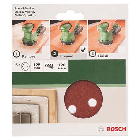 Bosch Velcro Disc bosch 5 pce sanding disc velcro 125mm 120gr with holes