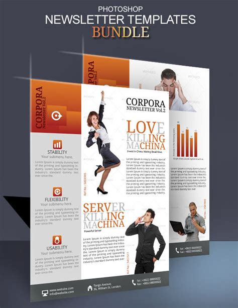 newsletter layout photoshop newsletter ideas photoshop templates on behance