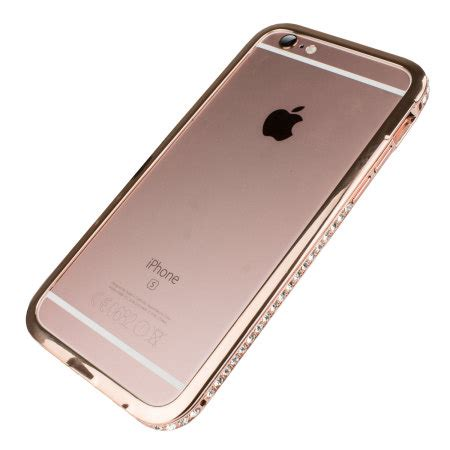 Agen Supplier Iphone 6 Cristal Bumber Gold olixar bling iphone 6s 6 metal bumper gold