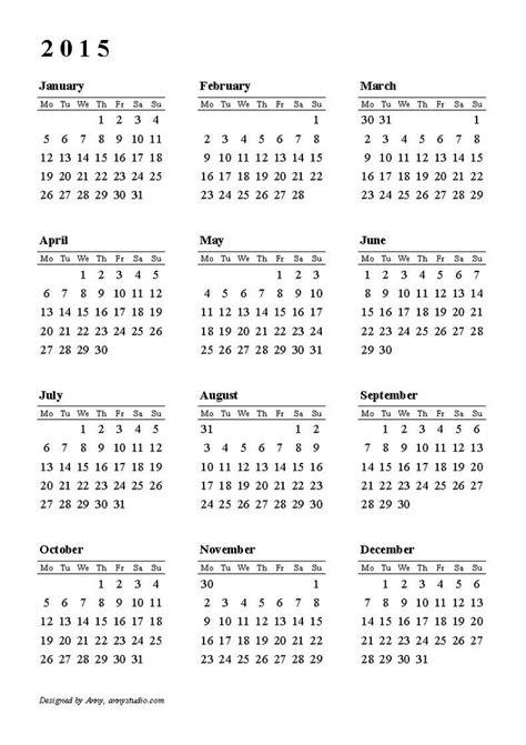 Lounge72 Pdf Calendars by 2015 Calendar Printable Card Calendars