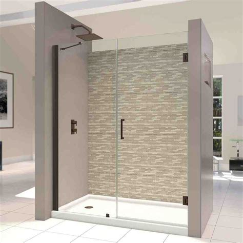 Hinged Shower Doors Frameless Hinged Glass Shower Door Decor Ideasdecor Ideas