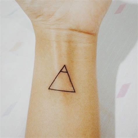 minimalist triangle tattoo meaning 20 small tattoos with big meanings sons explore tattoo