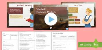 themes in macbeth lesson plan themes in macbeth lesson pack themes macbeth play script